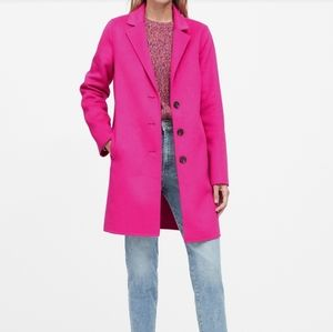 Nwt Banana Republic pink double faced topcoat